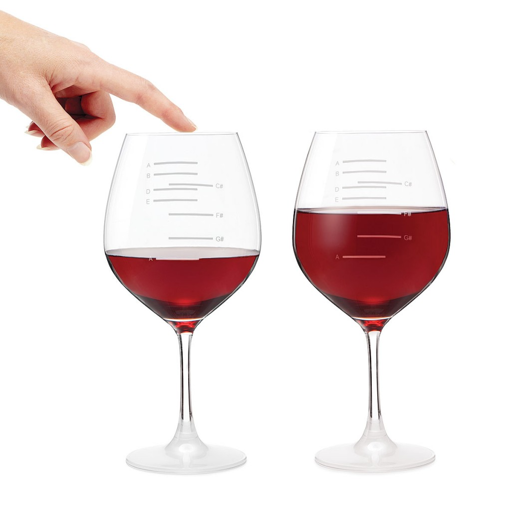Musical Scale Wine Glasses
